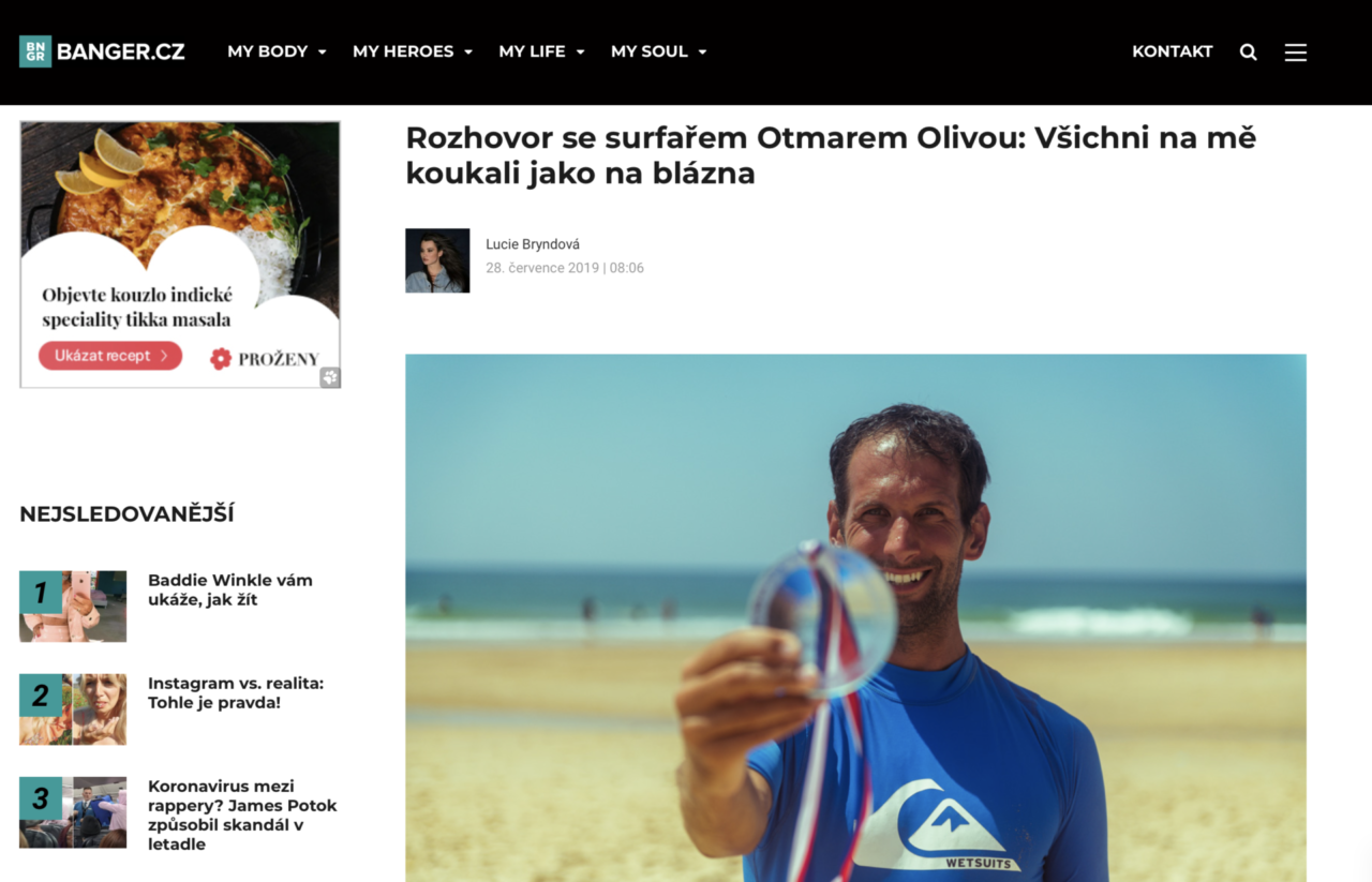 O surfování, vlnách a práci. Otík dává rozhovor pro Banger.cz